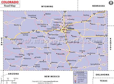 detailed map of colorado usa colorado road map highways in colorado