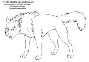 Outlines Of Wolves by Pics For Gt Anime Wolf Outline