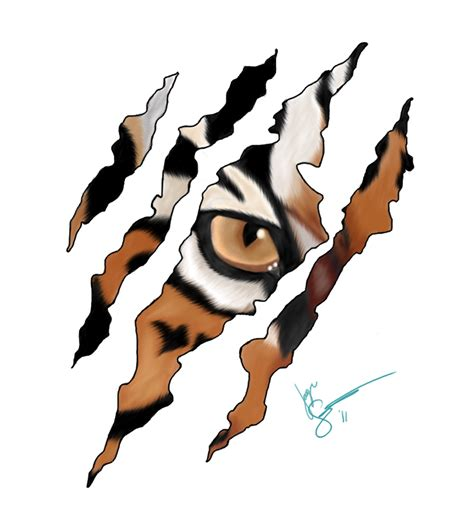 tiger scratch tattoo designs tiger scratch 2 by maineac92 on deviantart is as