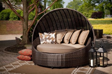 outdoor beds modern patio round bed turns simple outdoor space into