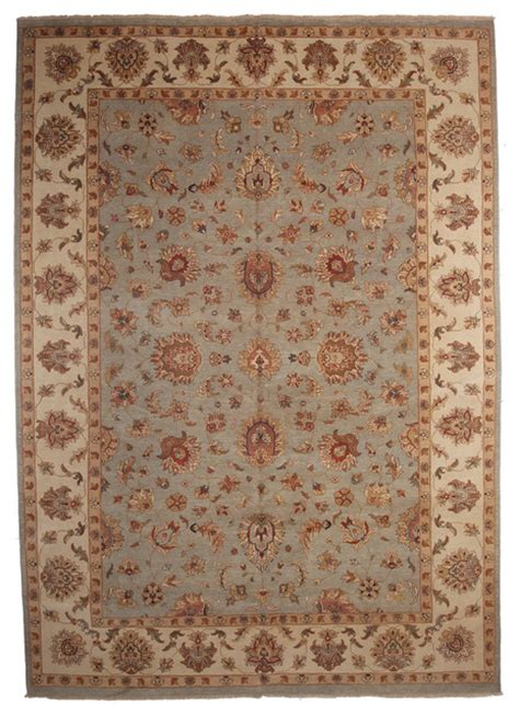 10x14 Area Rugs Oushak Wool Area Rug Blue 10x14 Traditional Area Rugs By Rugs