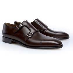Stemar modena double monk strap shoes dark brown mensdesignershoe