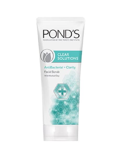 Ponds Detox Ingredients by Pond S Clear Solutions Antibacterial Scrub With