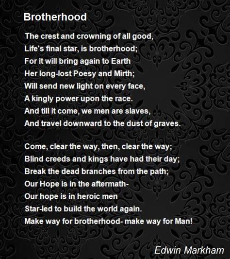 brotherhood in brotherhood poem by edwin markham poem