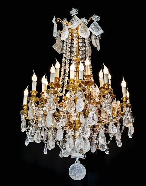 Rock Crystal And Gilt Bronze Chandelier For Sale At 1stdibs Rock Chandeliers