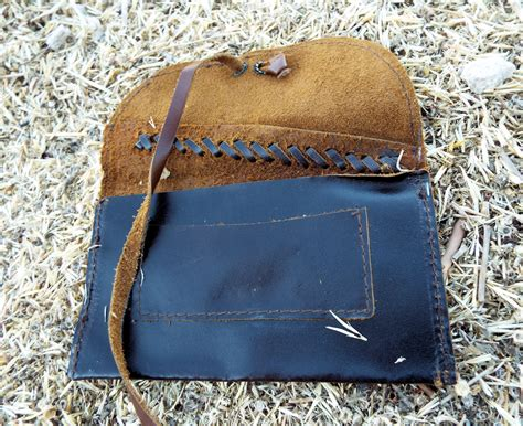 tobacco pouch leather handmade genuine leather