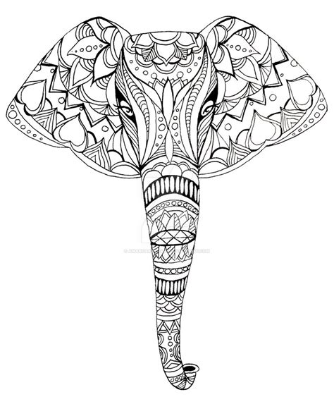 black and white elephant pattern patterned elephant drawing