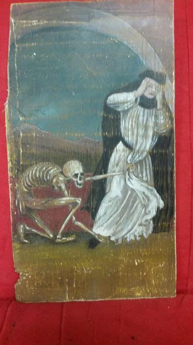 tempera su tavola danza macabra tempera su tavola xix secolo catawiki
