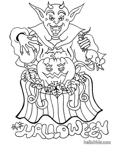 coloring pages of halloween monsters free scary monsters coloring pages