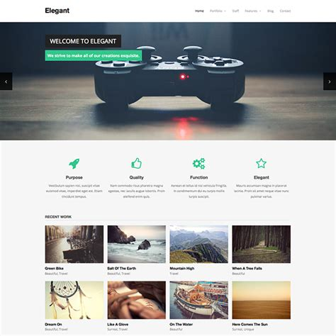 wordpress themes art gallery free elegant free wordpress theme wpexplorer