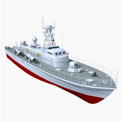 vaspa class torpedo boat 3d model max obj fbx cgtrader - Torpedo Boat