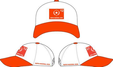 desain gambar topi topi partai nasional aceh pna cv harapan perdana