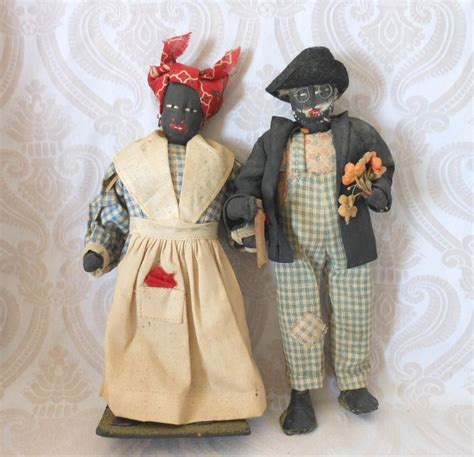 black doll antique vintage black cloth doll sold ruby