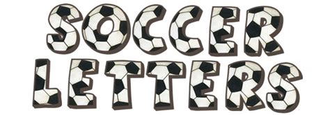 printable soccer fonts soccer letter wall decals