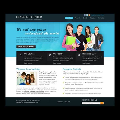 templates for learning website creative best website template psd for sale to create