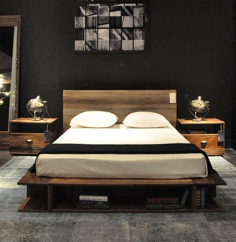 delightful reclaimed wood platform bed decorating ideas