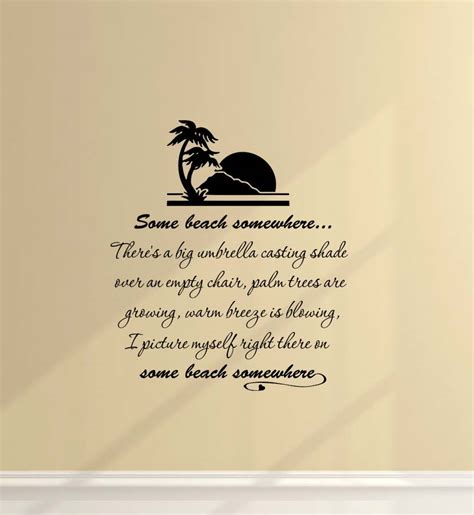 quotes sayings wall decor quotesgram beach vinyl wall quotes quotesgram