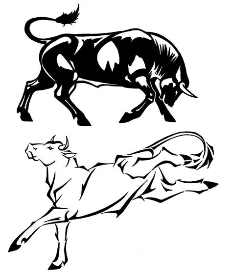 Bull Designs Set 1 By Milo Wildcat On Deviantart Bull Designs