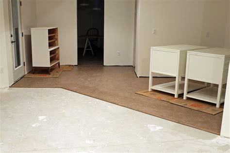 cork flooring basement concrete floor