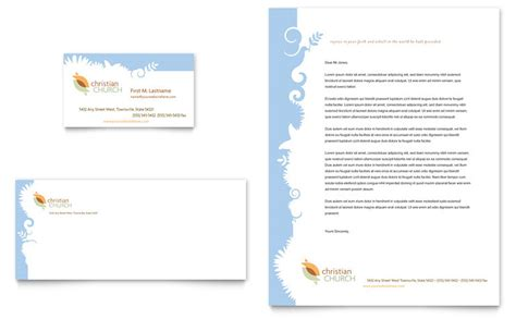 Christian Church Business Card Letterhead Template Church Stationery Templates
