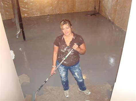 acrylic concrete basement floor painting color ideas