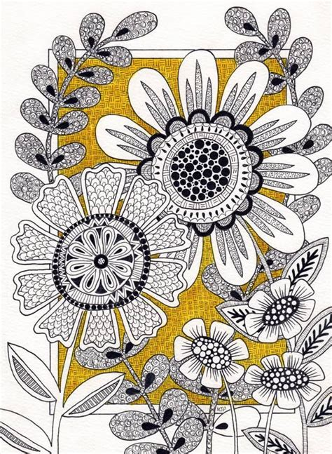 flower doodle quilt pattern the 526 best images about zentangle flowers on