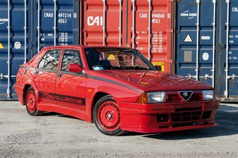 Alfa Romeo 75 by Sale A Subasta Un Alfa Romeo 75 Turbo Evoluzione