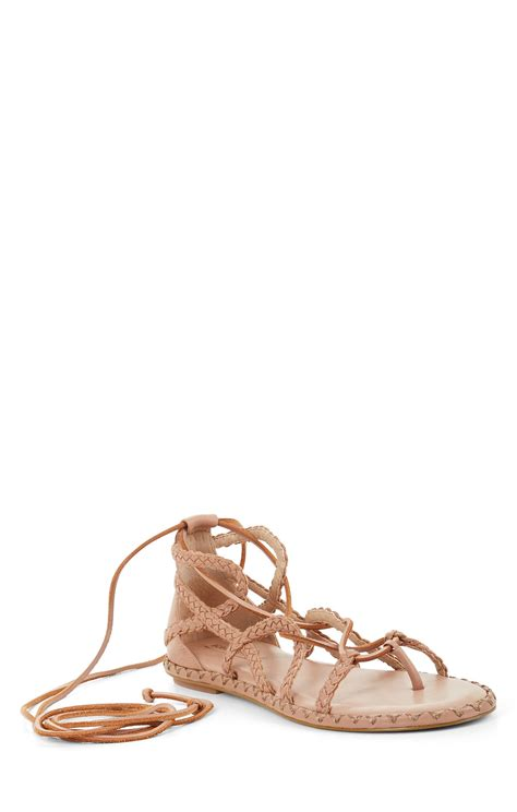 Lace Up Flat Sandals maye woven lace up flat sandal