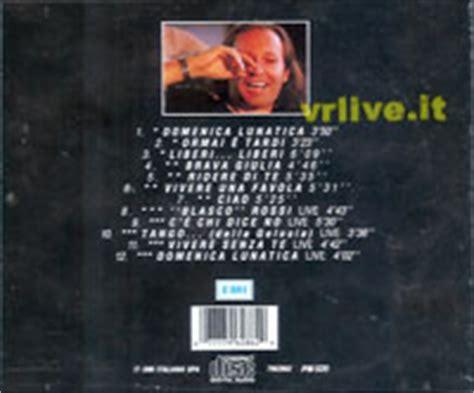 vasco greatest hits vrlive it estero compact disc