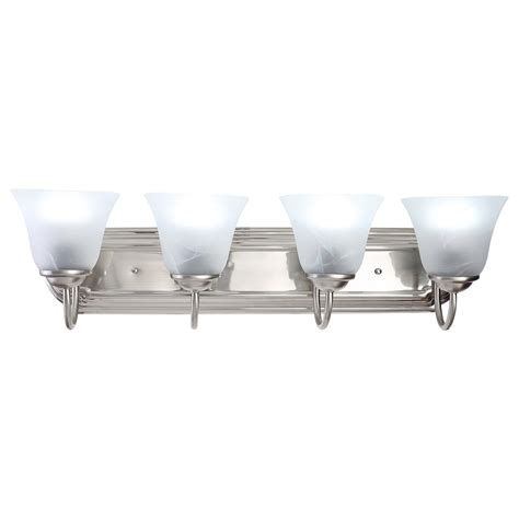 bathroom 4 light vanity fixture 4 light brushed nickel bathroom vanity light bath fixture