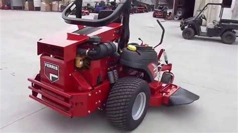 ferris isz  turn mower     hp cat diesel engine youtube