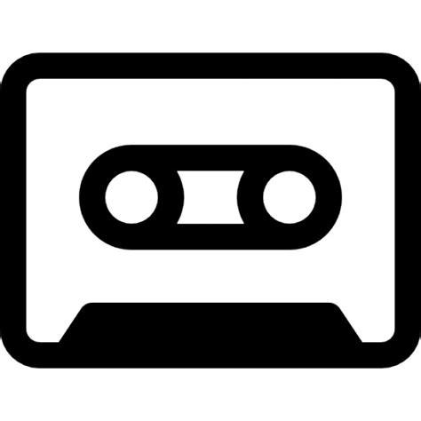 cassetta musica cassetta con bordo nero scaricare icone gratis