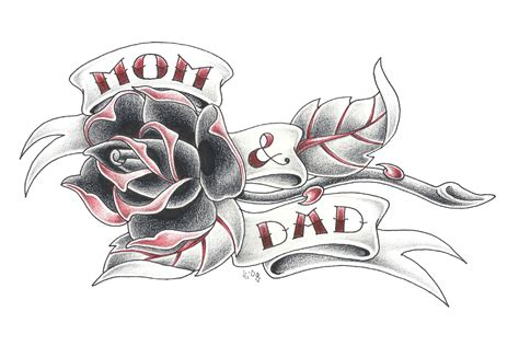mom dad tattoo designs designs vl