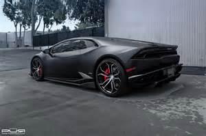 Custom Lamborghini Stealthy Lamborghini Huracan Sits On Custom Pur Wheels