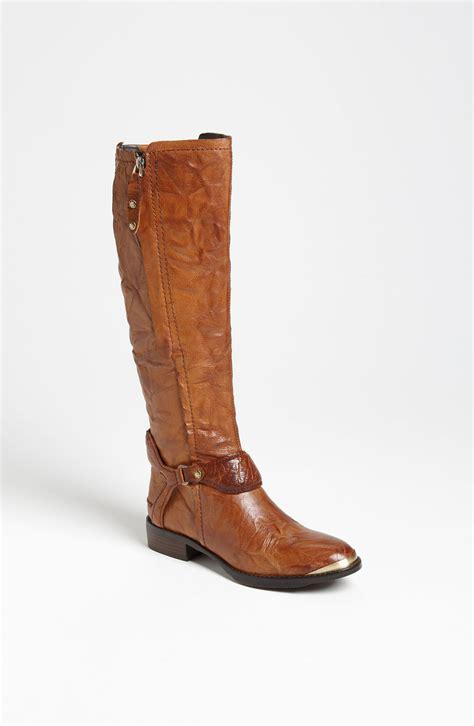 sam edelman boot sam edelman boot in brown whiskey leather lyst