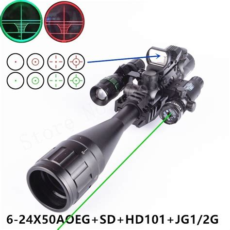 Bushnell 6 24x50 Green Rifle Scope Holograpic Sight Laser bushnell 6 24x50 scope magnum riflescope adjustable flashlight holographic sight
