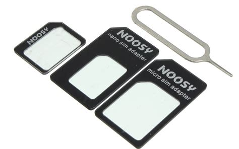 Barang Baru Noosy Nano Micro Sim Adapter Ejector Iphone Adaptor Ka noosy sim adapter adaptor 3in1 pin ejector jadi store