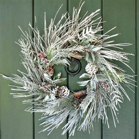 chilly handmade winter wreath designs   front door