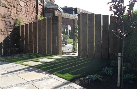 Railway Sleepers Fence by 17 Best Images About Front Fence On Gardens