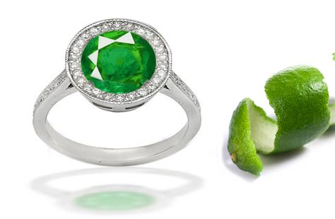 emerald bezel set engagement rings