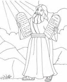 free coloring pages of moses and the red sea