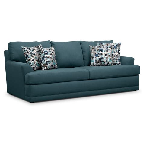 Sofa Sleeper By Furniture by Calamar Teal Upholstery Memory Foam Sleeper Sofa