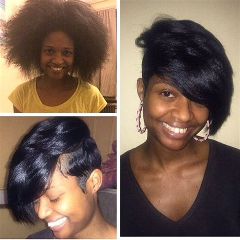 weave pixie cut stylist feature love this transformation done by