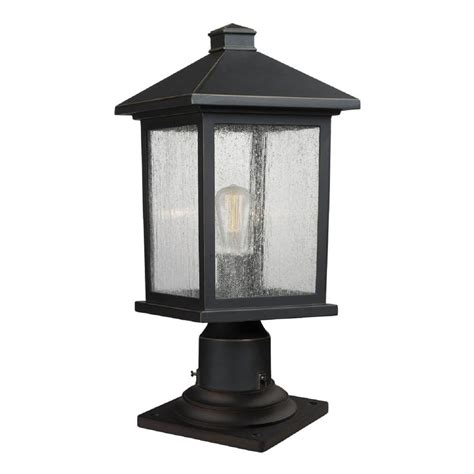 Outdoor Pier Lighting Fixtures Filament Design Malone 1 Light Rubbed Bronze Outdoor Pier Mount Cli Jb047608 The Home Depot
