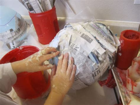 How To Make Paper Machet - post paper mache baskets
