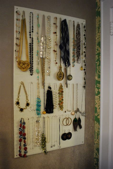 Diy The Door Jewelry Organizer by High Heeled Foot In The Door Diy Homasote Jewelry Organizer