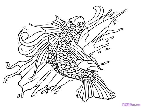 draw tattoos how to draw a koi fish step by step tattoos pop