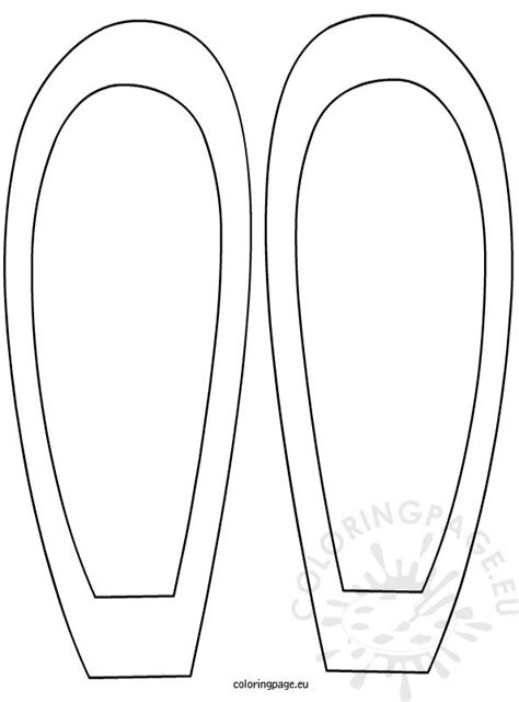 bunny ears template bunny ears colouring pages