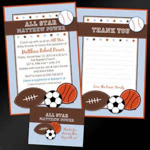 etsy sports theme baby shower invitations amanda g whitaker