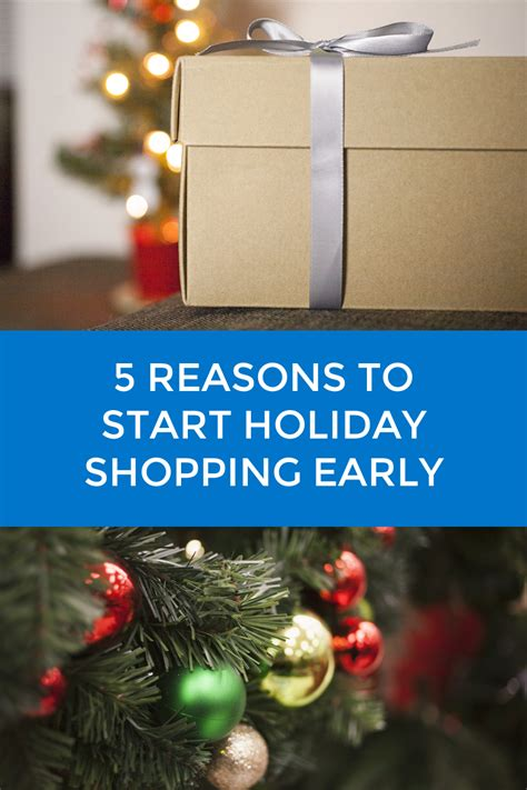 Get An Early Start On Your Shopping by 5 Reasons To Start Shopping Early